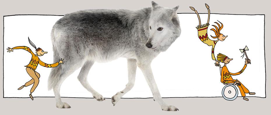 Danser avec le loup du gévaudan en Lozère